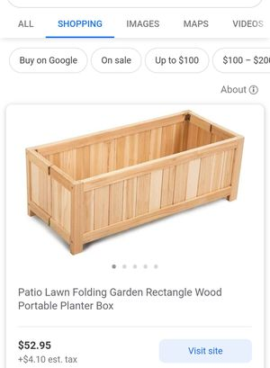 Wooden Flower Pot Box for Sale in Riverside, CA