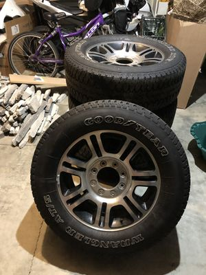F350 platinum rims and tires for Sale in Portland, OR