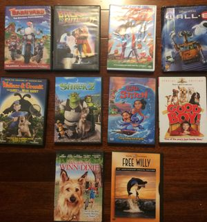 10 children's movies and cartoons DVDs for Sale in Federal Way, WA