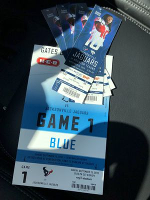 Texans tickets 9-15-19 for Sale in Houston, TX