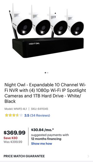Night Owl Expandable 8-Channel 1080p Wireless Security System for Sale in Orlando, FL