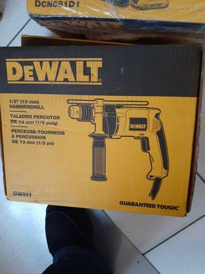 "DeWalt 1/2"" (13mm) Corded Variable Speed Reversible Hammer Drill DW511 for Sale in Philadelphia, PA"