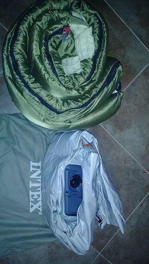 Sleeping bag, self inflatable air mattress with bag for Sale in Menifee, CA
