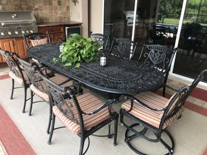 Outdoor cast aluminum patio furniture for Sale in Sarasota, FL