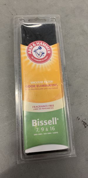 Bissell 7 9 16 Odor Eliminating Vacuum Filter Fragrance Free Arm and Hammer for Sale in Davenport, FL