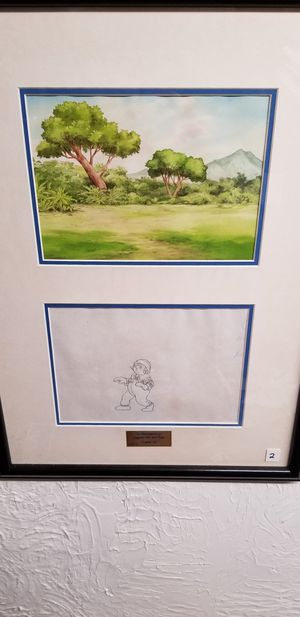 Raggedy Ann and Andy Cartoon Drawing with COA for Sale in Youngstown, OH