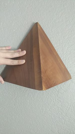 Set of Two Geometric Wood Light Sconces for Sale in Chandler, AZ
