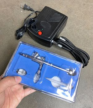 Brand New $35 Airbrush Kit w/ Air Compressor & Dual-Action Airbrush for Makeup, Tattoo, Cake Decorating for Sale in Downey, CA