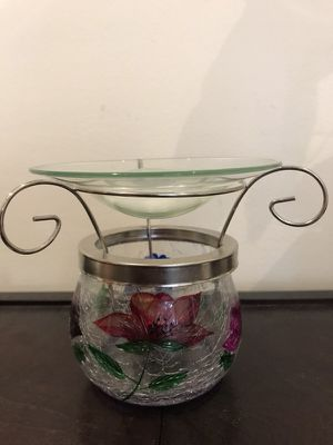 Yankee Candle Floral Stained Glass wax tart burner for Sale in Jackson, NJ
