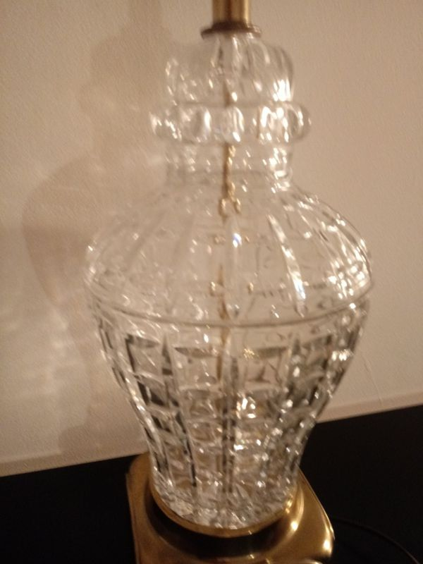 Crystal table lamp Asian inspired