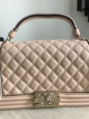 Chanel flap bag VEAU/MJPV/Beige handbag for Sale in Las Vegas, NV