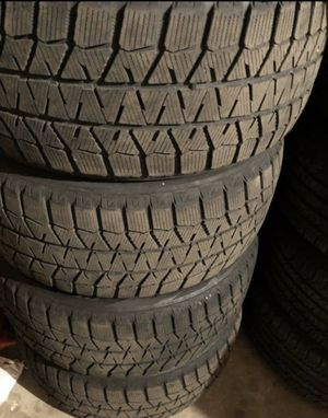 4x Winter Bridgestone Blizzak WS80 245/50/18 Condition 9/32 No repair, like new tires. for Sale in Chicago, IL
