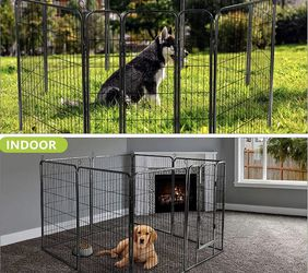 Nurxiovo Dog Pen, 8Panels 32 in Heavy Duty Folding Large Metal Dog Fence for Sale in Buena Park,  CA