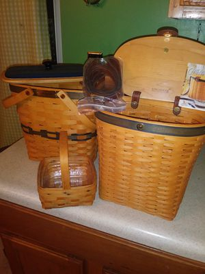 Longaberger baskets for sale like new 75$ for the set for Sale in Harper Woods, MI