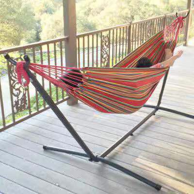 New in box $60 each 110 inches long 450 lbs capacity double hammock with metal stand included and carrying bag hamaca