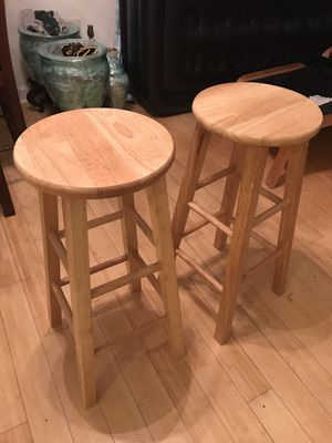 """Very handsome, Solid birch bar/kitchen stools- 29"""" tall for Sale in Alexandria, VA"""