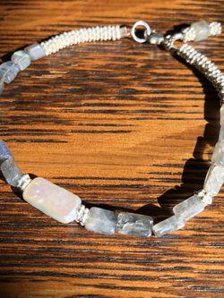 Handmade Labradorite, Pearl, Sterling Silver Bracelet for Sale in Arlington,  VA