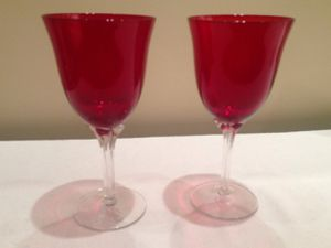 pair of red wine glasses for Sale in Washington, DC