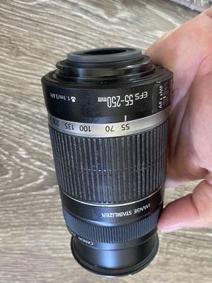 Canon digital camera EFS lens 55-250mm for Sale in Encinitas, CA
