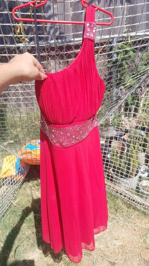 Red one shoulder quinceanera dress for Sale in Sacramento, CA
