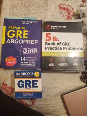 GRE test prep books for Sale in Stockton, CA
