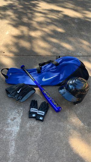 Nike Youth Baseball Glove Helmet Batting Gloves Bat Bag Easton Bundle for Sale in Oklahoma City, OK