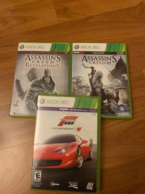 Xbox 360 Games Assassin's Creed & Forza4 for Sale in Kirkland, WA