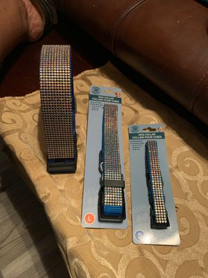 Dog collars blingy sparkle for Sale in Bakersfield, CA