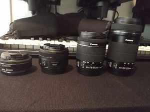 Canon lenses!!!!! GREAT DEAL!! for Sale in New York, NY