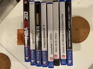 PS4 games all for $60!!! for Sale in Fremont, CA