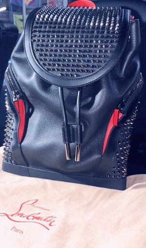 Christian Louboutin Men's Explorafunk Red Bottom Backpack for Sale in Tampa, FL