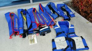 7 co2 self inflating life vests for Sale in Poway, CA
