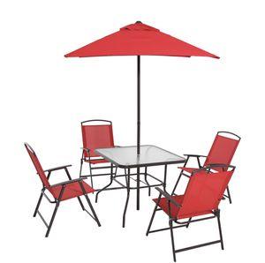 Table, Chairs, Umbrella, Set 6 piece for Sale in Miami Beach, FL