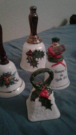 4 piece christmas bell collection for Sale in Tempe, AZ