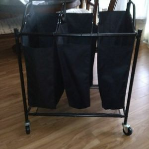 3 Section Rolling Laundry Cart for Sale in Cayce, SC