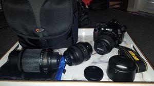 Nikon D3100 Kit, with 3 lenses for Sale in San Antonio, TX