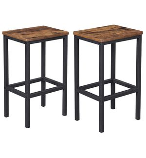🔥BRAND NEW Bar Stools, Set of 2 Bar Chairs, Kitchen Breakfast Bar Stools with Footrest, Industrial in Living Room, Party Room, Rustic Brown ULBC65X for Sale in Hoboken, NJ