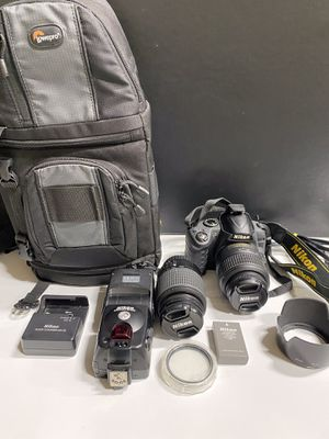 Nikon D3000DSL camera bundle- comes with everything shown for Sale in Palm Beach Gardens, FL
