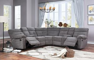 New Grey Recliner Sectional Sofa for Sale in Austin, TX