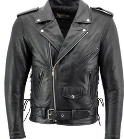 New Leather Motorcycle Jacket Classic Old School $160 for Sale in Santa Fe Springs,  CA