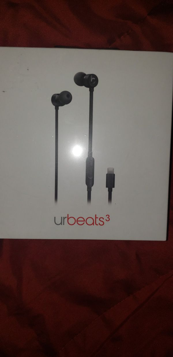 Beats by Dre urBeats3 Black Lightning Connector (For iPhones with no AUX)