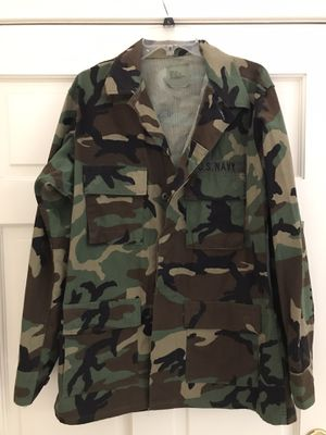 US Military Camouflage Coat/jacket/shirt - medium long for Sale in El Cajon, CA
