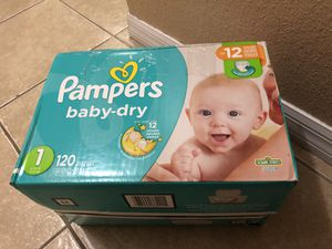 Diapers size 1 total 150 units - 120 pampers (+30 Huggies) I used just 2 units for Sale in Winter Haven, FL