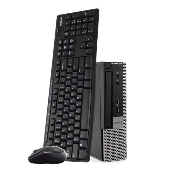 Dell 7010 Intel Core i5 8GB RAM 500GB HDD New 16GB Flash Drive, Wireless Keyboard and Mouse, Windows 10 Space Saving Desktop Computer Refurbished