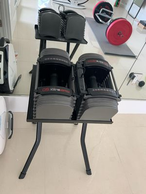 Powerblock 50 Adjustable Dumbbells w/ Stand for Sale in Orlando, FL