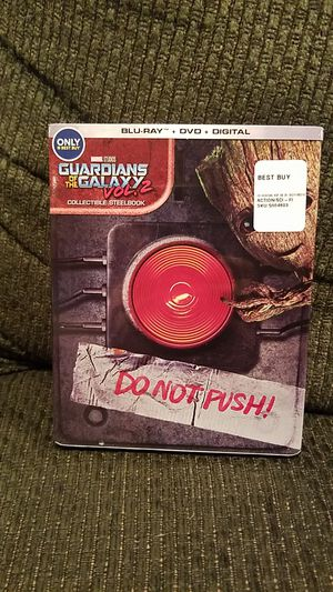 Guardians of the Galaxy Vol 2 rare steelbook Blu-ray DVD and digital code new for Sale in Old Bridge Township, NJ