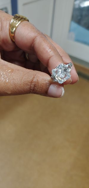 Platinum Ring (15 gm) 7 carats lab created diamond size 7 engagement ring. for Sale in Bristow, VA