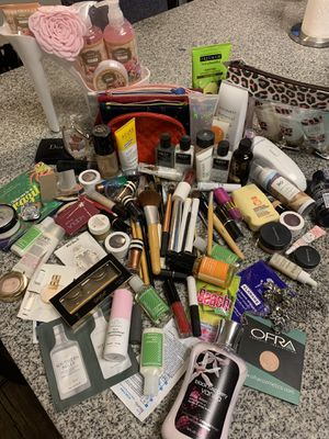 Makeup lipsticks brushes eye shadows perfume skincare and other beauty products for Sale in Largo, FL