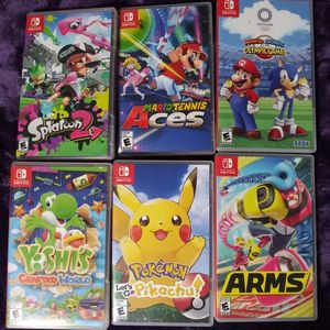Nintendo switch games ($43.00 EACH) for Sale in Madera, CA
