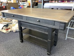 New Solid Wood Dining Table With Wine Rack, Drawers, Shelves for Sale in Virginia Beach, VA
